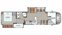2019 Force HD 37BHHD Floor Plan