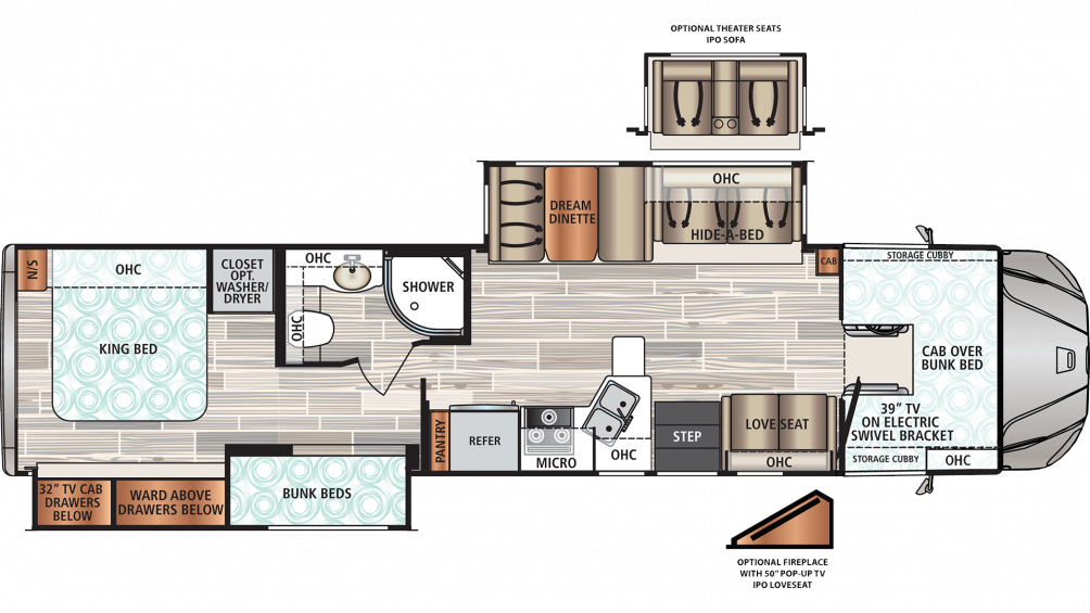 2019 Force HD 37BHHD Floor Plan Img