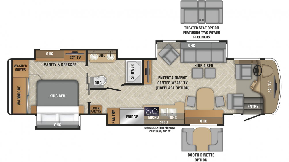 2019 Aspire 38M Floor Plan Img