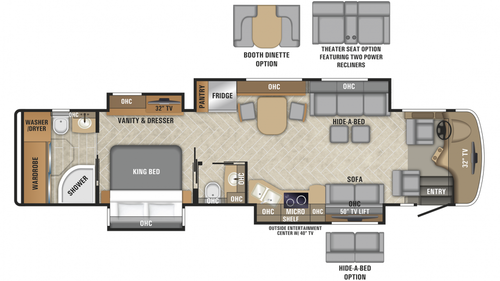 2019 Aspire 40P Floor Plan Img
