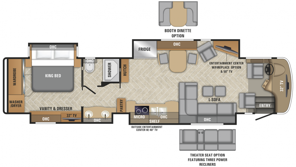 2019 Aspire 42DEQ Floor Plan Img