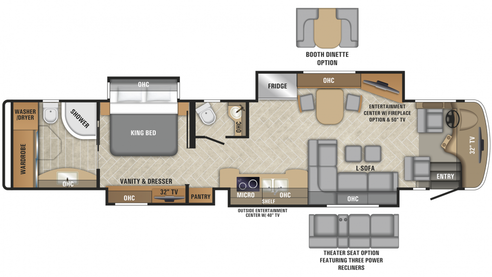 2019 Aspire 44B Floor Plan Img