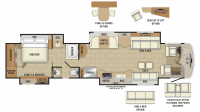 2019 Cornerstone 45X Floor Plan