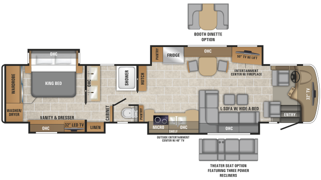 2019 Cornerstone 45Y Floor Plan
