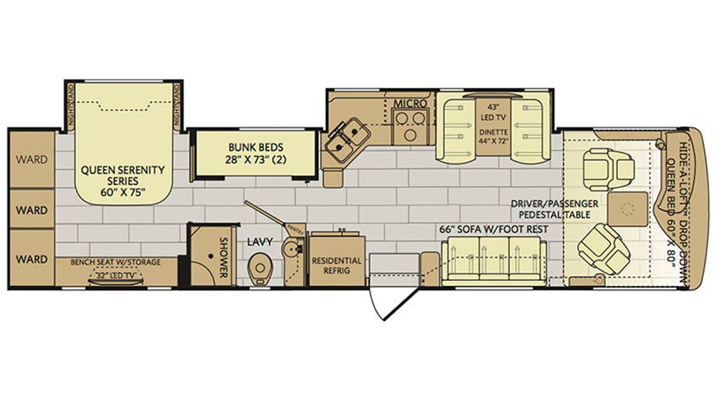 2018 Pace Arrow 35E Floor Plan Img
