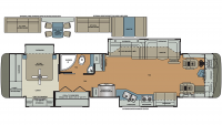 2019 Berkshire XL 40BH-380 Floor Plan