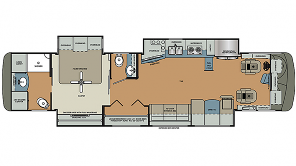 2019 Berkshire XL 40C-380 Floor Plan Img