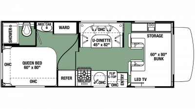 2019 Forester LE 2351 CHEVY Floor Plan Img