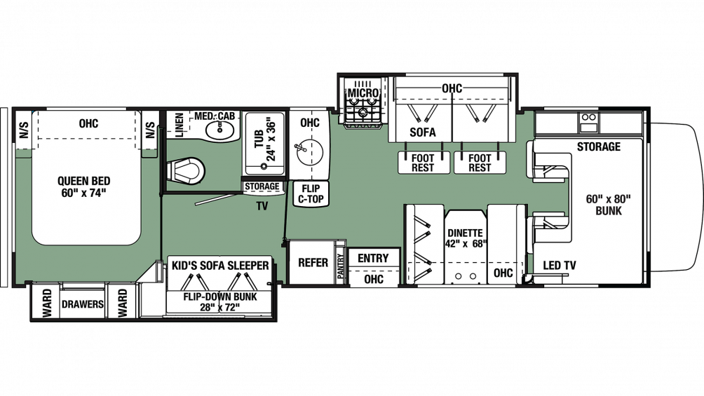2019 Forester LE 3251DS FORD Floor Plan Img