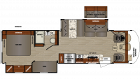 2019 Georgetown 3 Series 33B3 Floor Plan