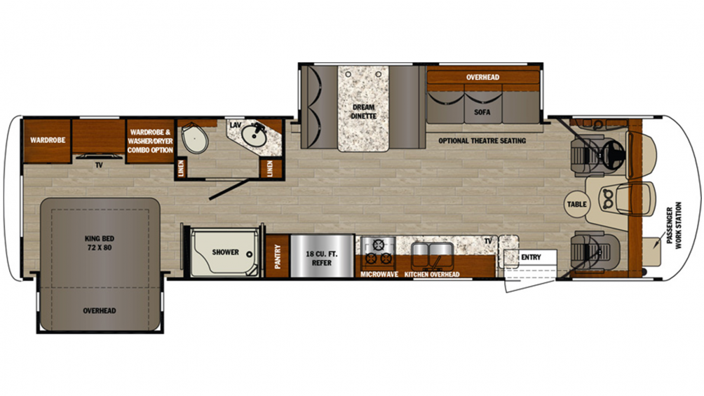 2019 Georgetown 5 Series 31R Floor Plan Img