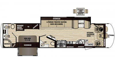 2019 Georgetown XL 369DS Floor Plan Img