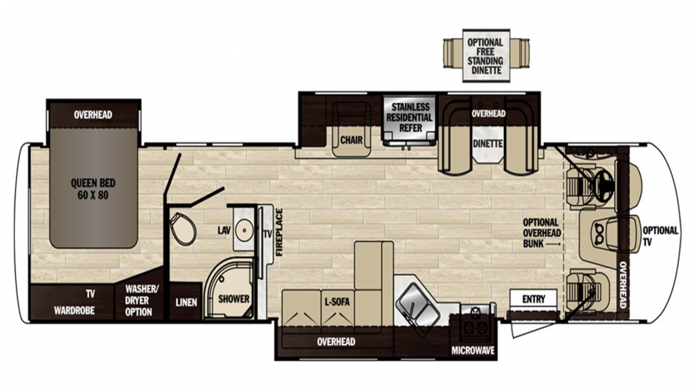 2019 Georgetown XL 377TS Floor Plan Img
