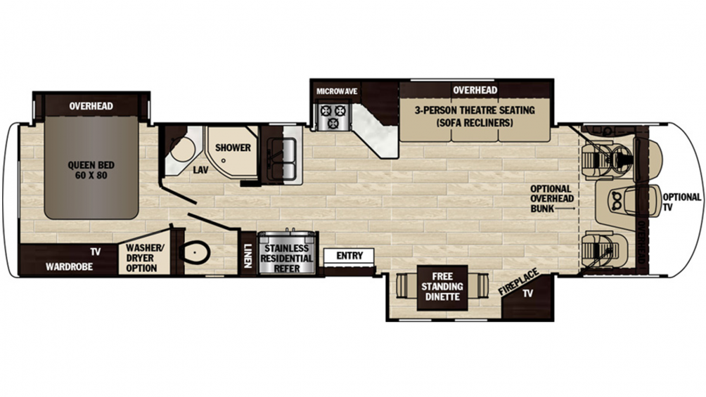 2019 Georgetown XL 378TS Floor Plan Img