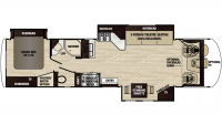 2019 Georgetown XL 378TS Floor Plan