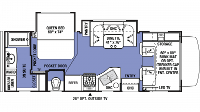 2019 Sunseeker 2420MS Floor Plan Img