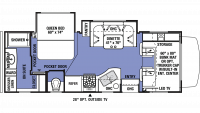 2019 Sunseeker 2420MS Floor Plan