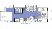 2019 Sunseeker 2500TS CHEVY Floor Plan