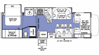 2019 Sunseeker 3040S Floor Plan Img
