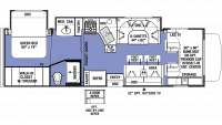 2019 Sunseeker 3040S Floor Plan