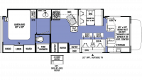 2019 Sunseeker 3050S Floor Plan