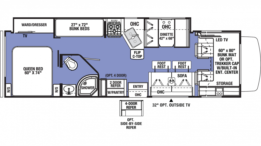 2019 Sunseeker 3270S Floor Plan Img