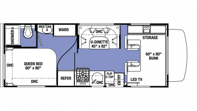 2019 Sunseeker LE 2350 FORD Floor Plan Img