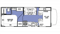 2019 Sunseeker LE 2350 FORD Floor Plan