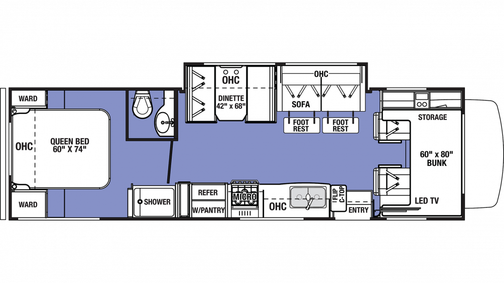 2019 Sunseeker LE 2850S FORD Floor Plan Img