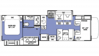 2019 Sunseeker LE 3250DS FORD Floor Plan