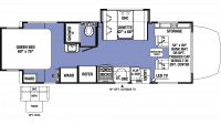 2019 Sunseeker MBS 2400R Floor Plan