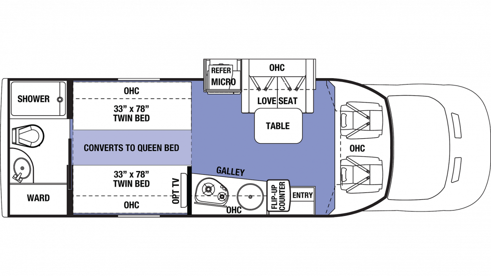 2019 Sunseeker TS 2370D Floor Plan Img