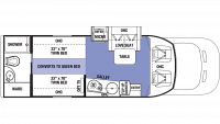 2019 Sunseeker TS 2370D Floor Plan