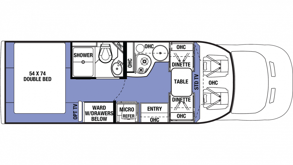 2019 Sunseeker TS 2380D Floor Plan Img