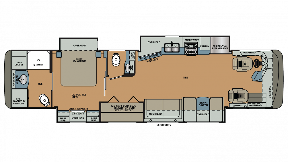 2019 Berkshire 38A-360 Floor Plan Img