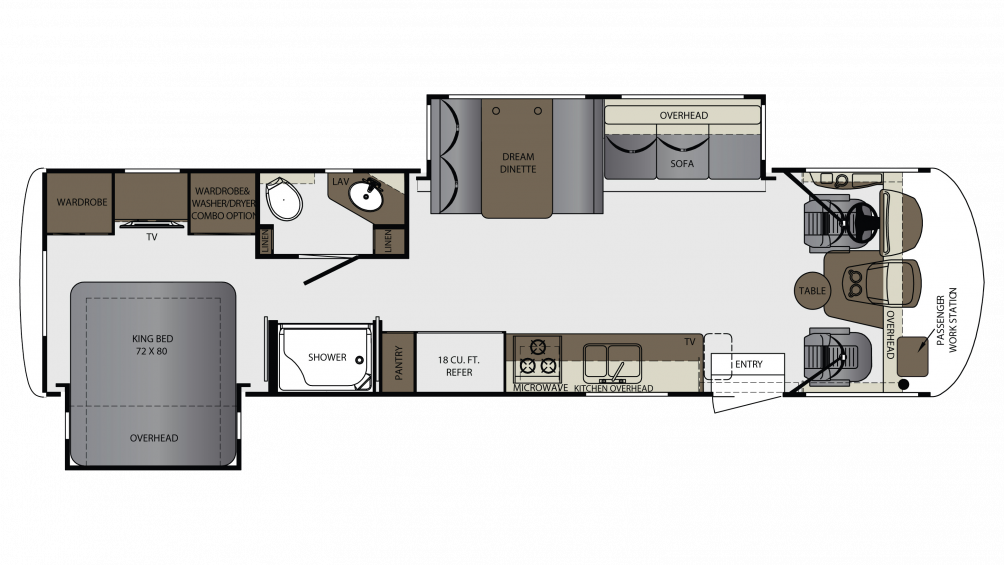 2018 Georgetown 5 Series 31R Floor Plan Img