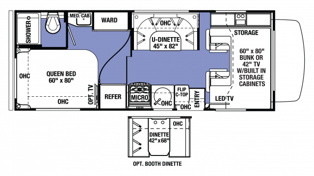 2018 Sunseeker LE 2350 FORD Floor Plan