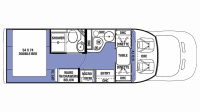 2019 Sunseeker TS 2380 Floor Plan