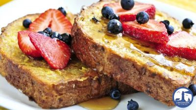 French toast and eggs for camping
