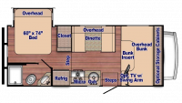 2019 Conquest 6220 Floor Plan