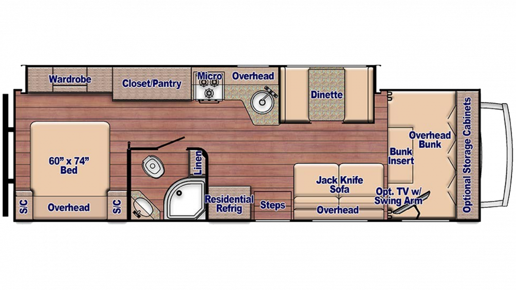 2019 Conquest 6310 Floor Plan Img