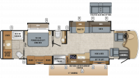 2019 Embark 39T2 Floor Plan