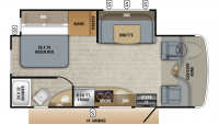 2019 Melbourne Prestige 24LP Floor Plan