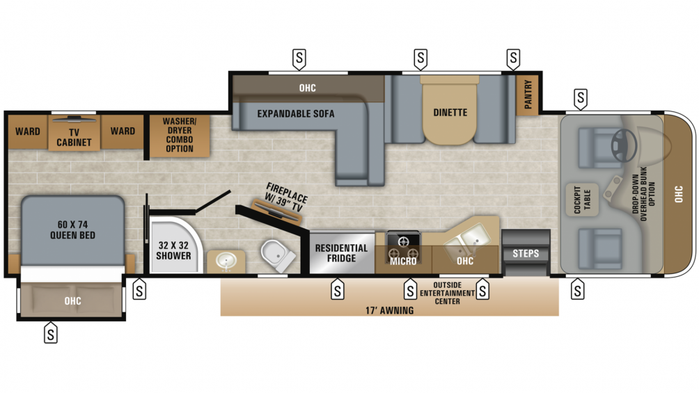 2019 Precept 33U Floor Plan Img