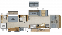 2019 Precept Prestige 36B Floor Plan