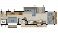 2019 Precept Prestige 36U Floor Plan