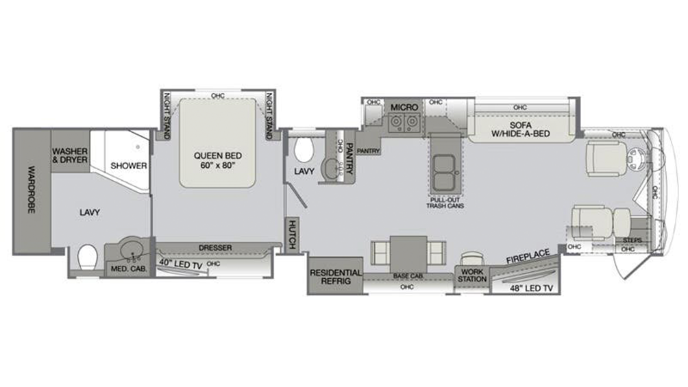 2016 Dynasty 45P Floor Plan Img