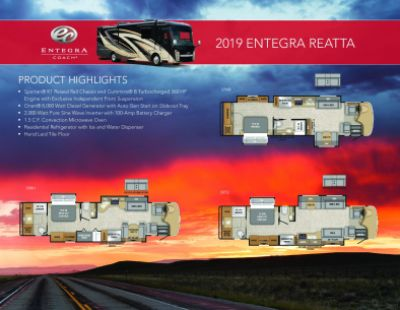 2019 Entegra Coach Reatta RV Brochure Cover