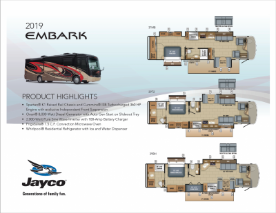 2019 Jayco Embark RV Brand Brochure