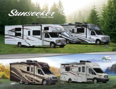 2017 Forest River Sunseeker RV Brand Brochure Cover